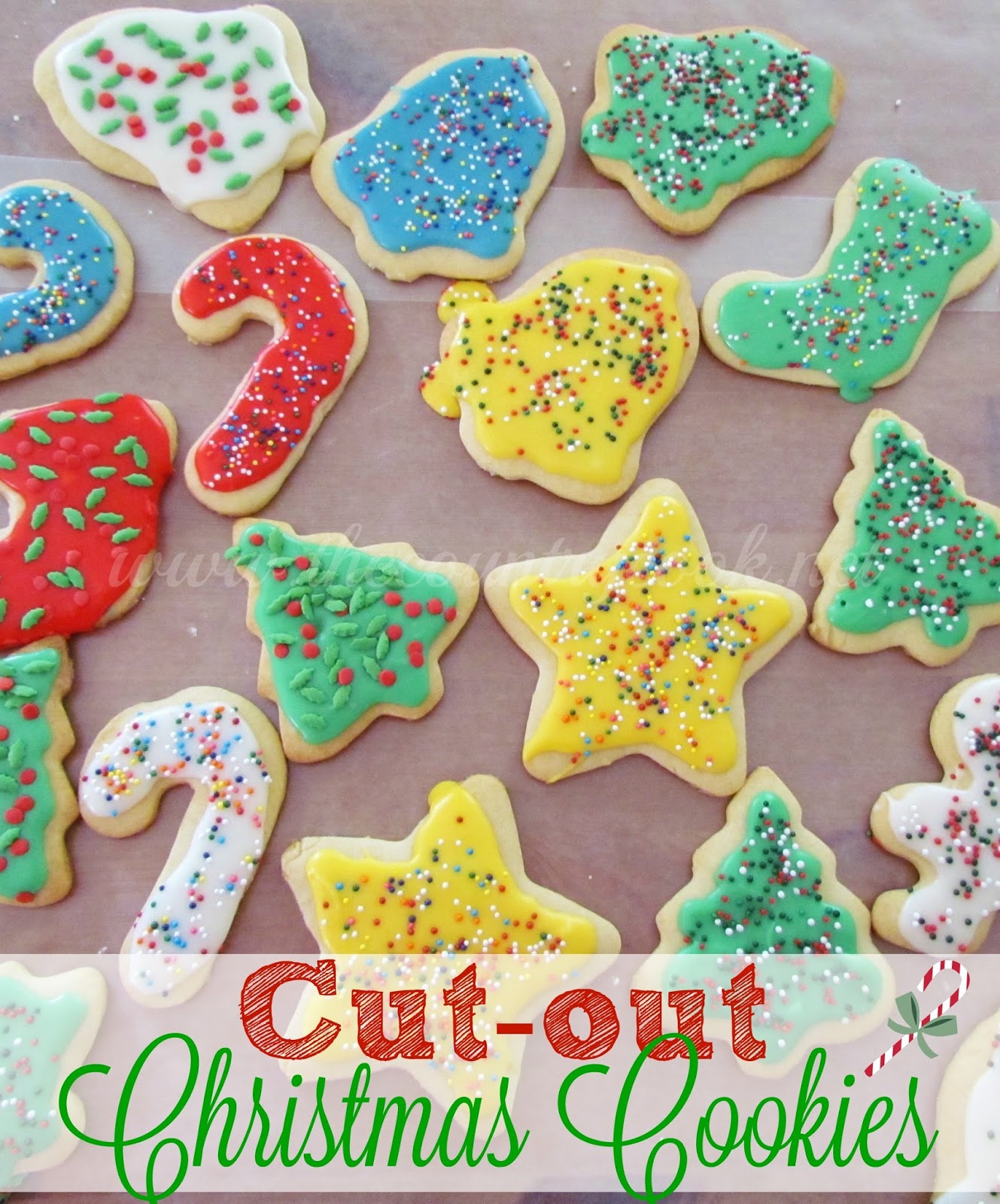 How to make christmas sugar cookies - And As For The Cookies I Shared I Had To Make My All Time Favorite Cut Out Sugar Cookies With Frosting And Sprinkles