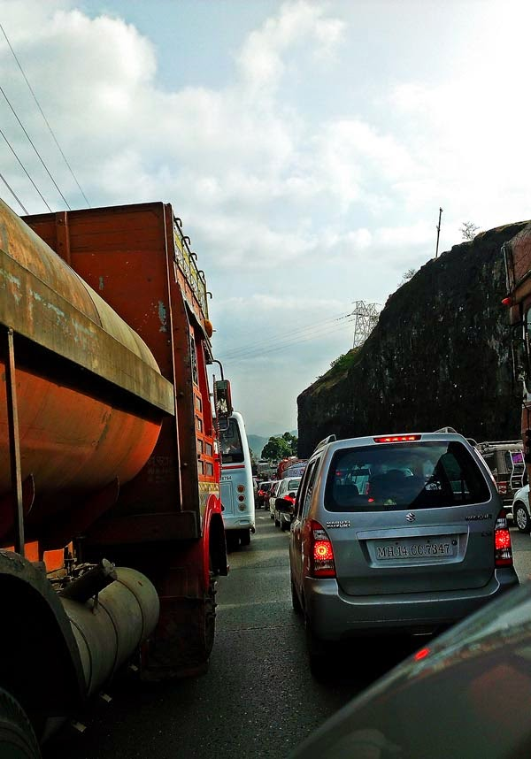 Traffic Jam on the Pune Mumbai Expressway