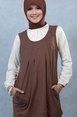 Actual Basic Busana Muslim Coklat Rompi