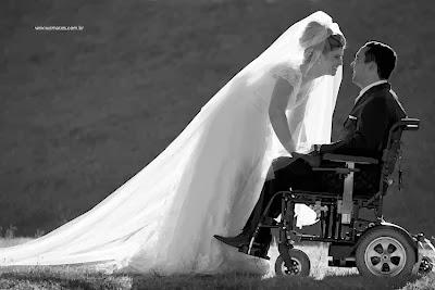 Cadeirante casando