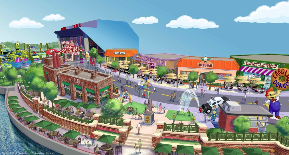 Universal Studios Florida Map.Newsplusnotes Simpsons Expansion Announced For Universal Studios