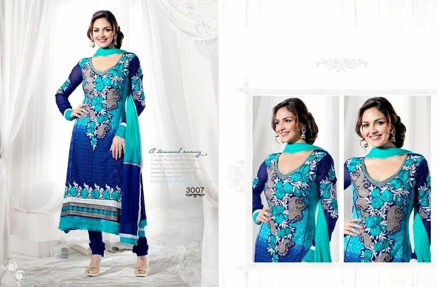EshaDeolSalwarSuits2013 2014 wwwfashionhuntworldblogspotcom 007 - Wonderful Color Combination Esha Deol Suits