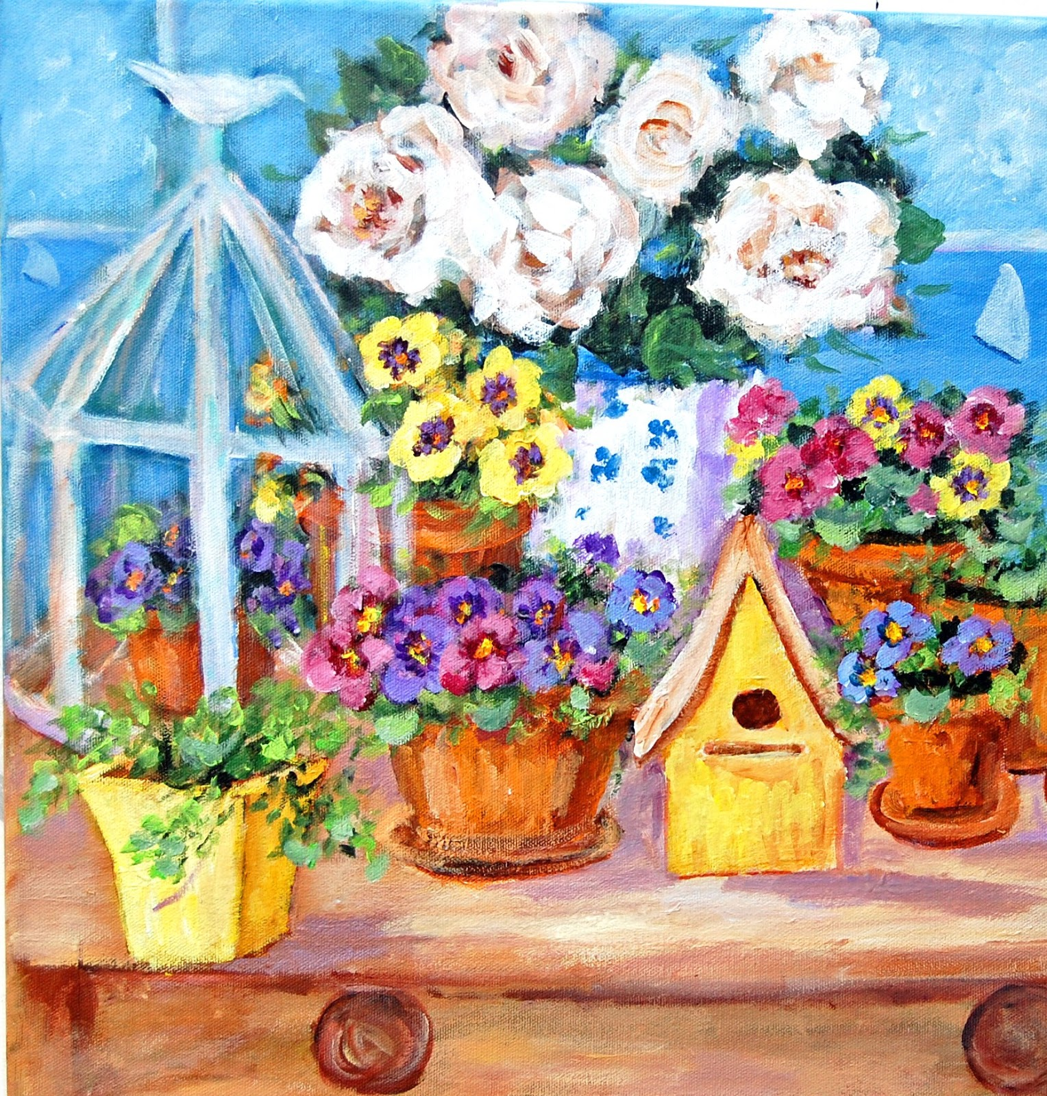 My Painted Garden Painting Winter Pansies