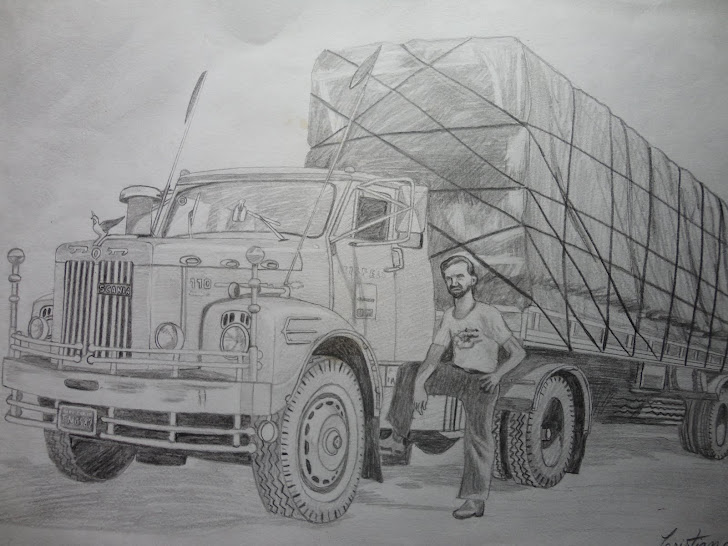 Meu pai quando caminhoneiro