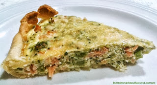 Quiche brocoli y salmon