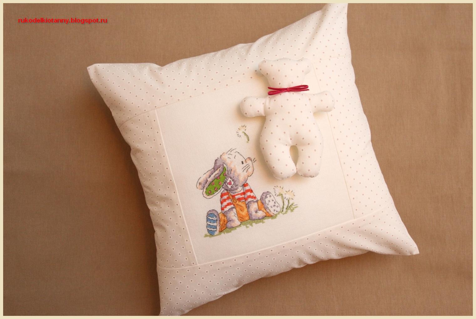 Купить именную подушку с вышивкой на 99