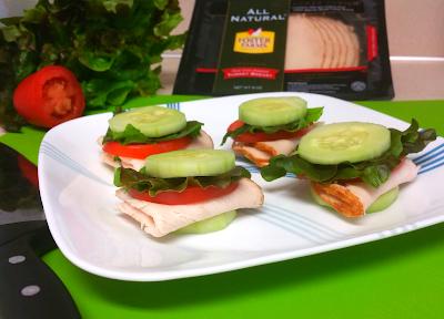 Cucumber Turkey Mini-Sandwiches Recipe Featuring Foster Farms All Natural Sliced Turkey!