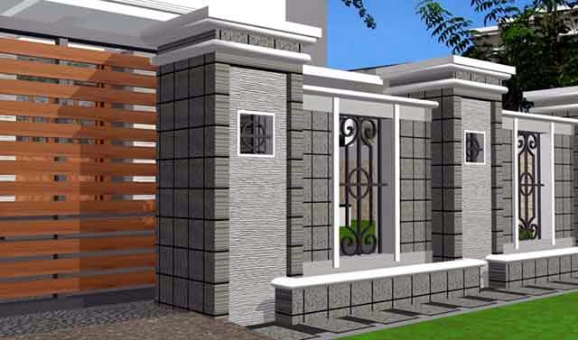 Desain Pagar Rumah Minimalis Modern yang Elegan