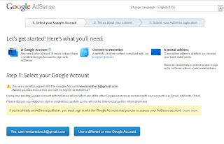 image of ad sense account process