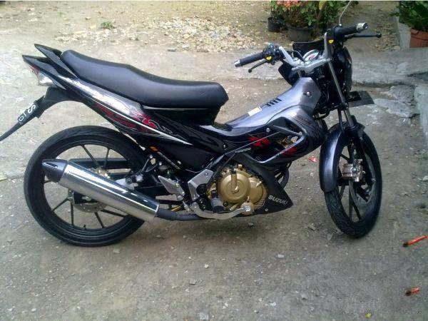 motor bekas satria fu 2010 hitam abu-abu