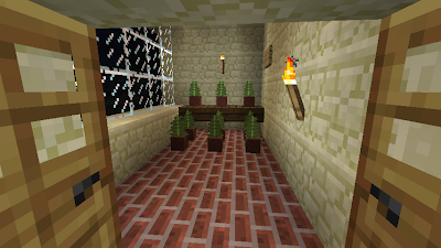 minecraft home flowers room