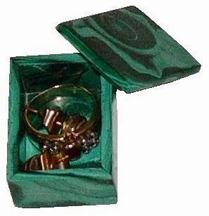 Caja de malaquita