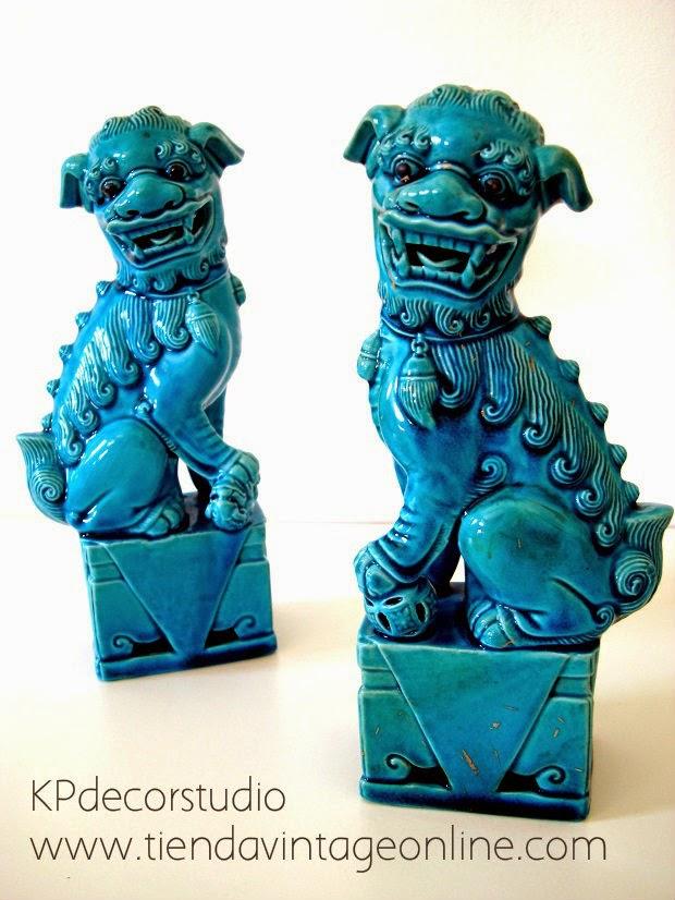 leones chinos foo. perros fu vintage