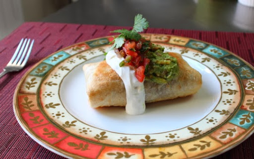 Chicken & Mushroom Chimichanga – A Thingamajig of Beauty