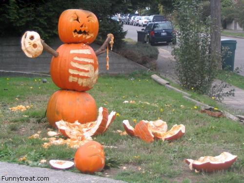 Funny Pissed Pumpkin