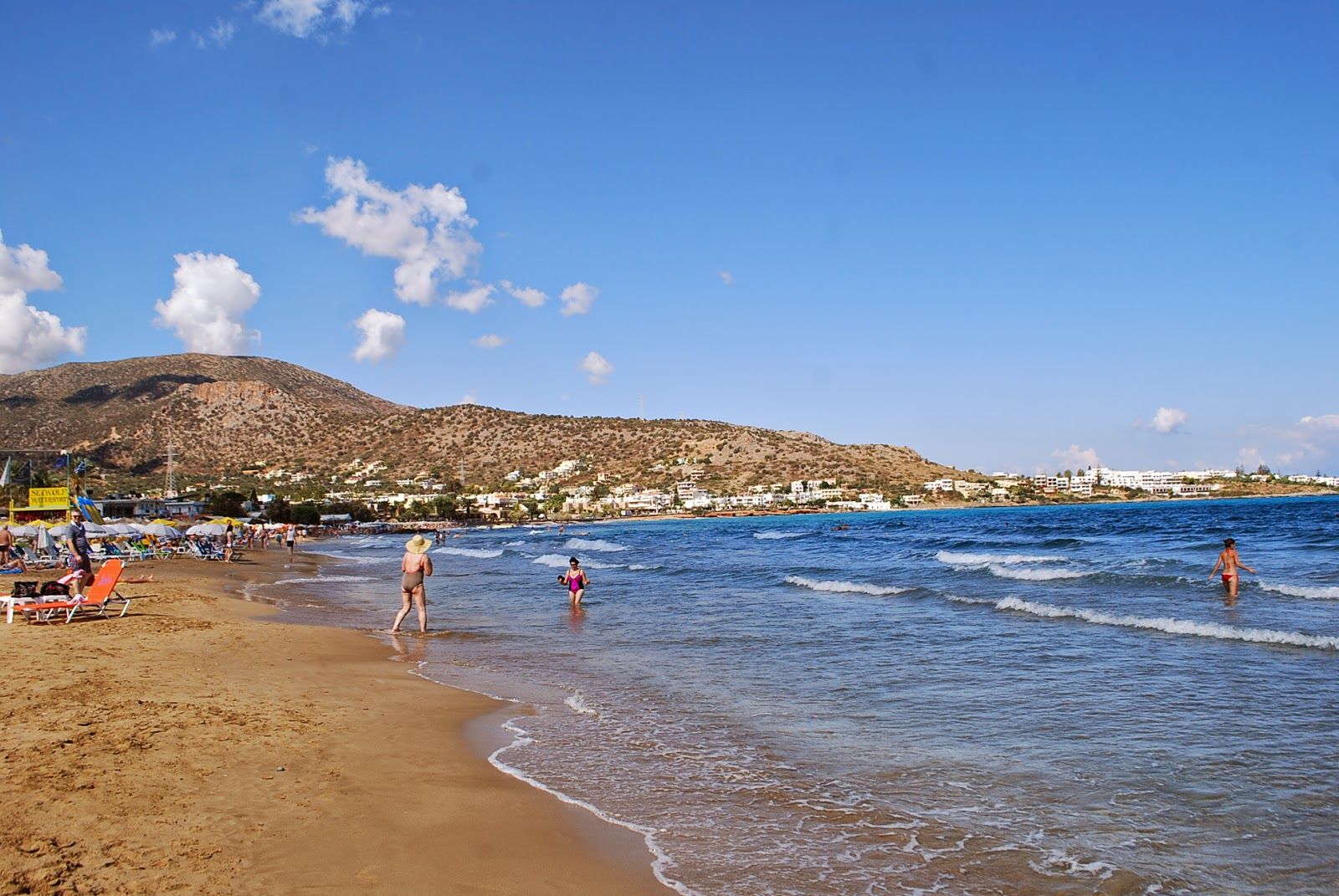 Пляж Сталиды, Крит, Греция. Beach of Stalis, Crete, Greece.