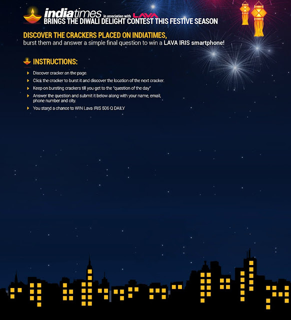 Indiatimes & LAVA brings Contest on this Diwali 2013