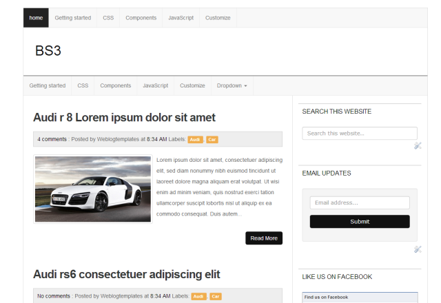 BS3 Responsive Blogger Template