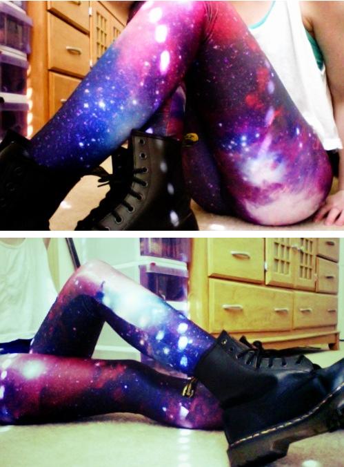 Not Nineteen Forever... Galaxy Print Leggings