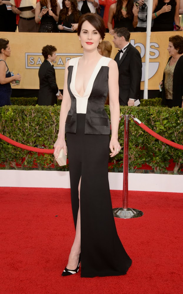 Michelle Dockery in J. Mendel at the SAG awards