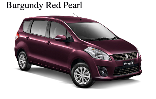 warna ertiga burgundy red pearl