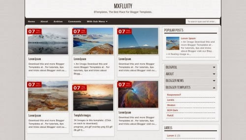 MXfluity unique responsive white Blogger Templates 2014