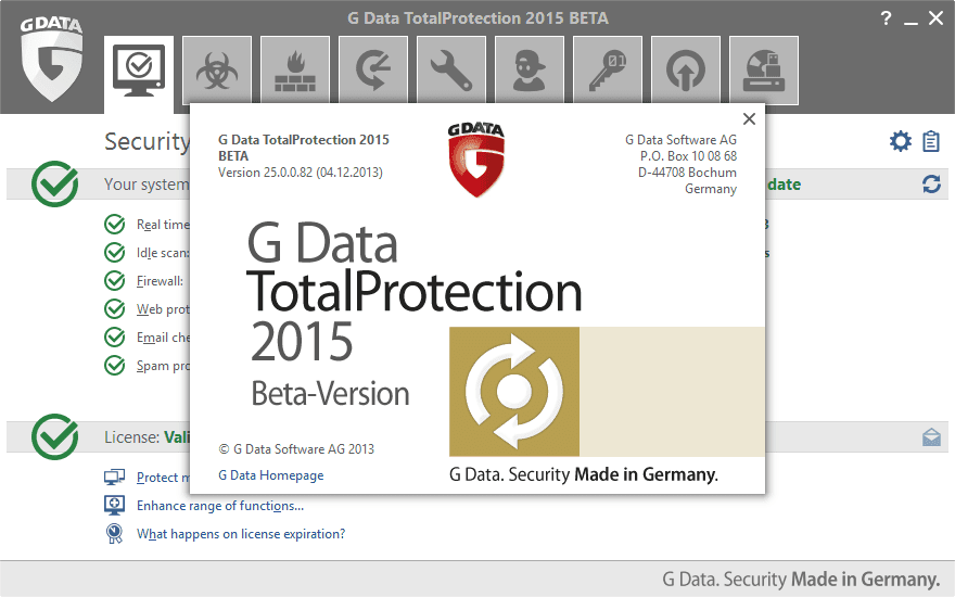 G Data TotalProtection 2015 Beta* - 3 months free test ...