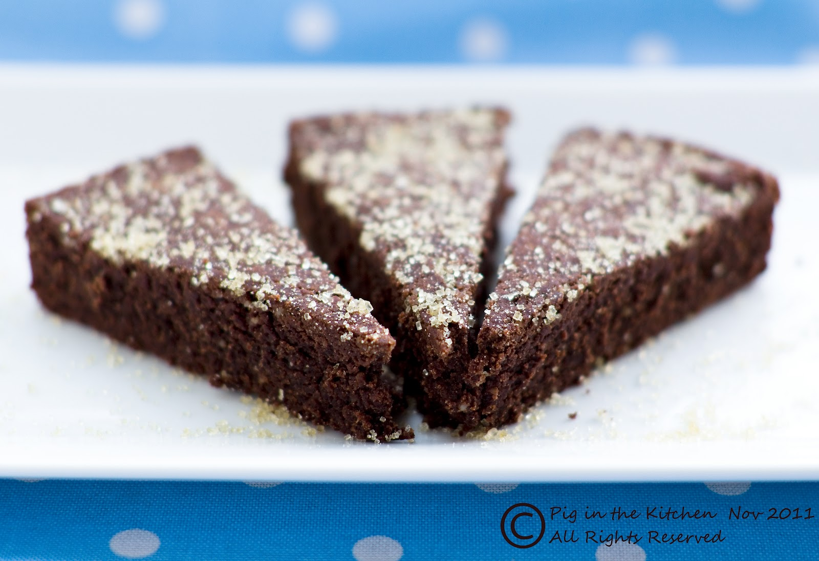 Chocolate Shortbread (gluten free, vegan)