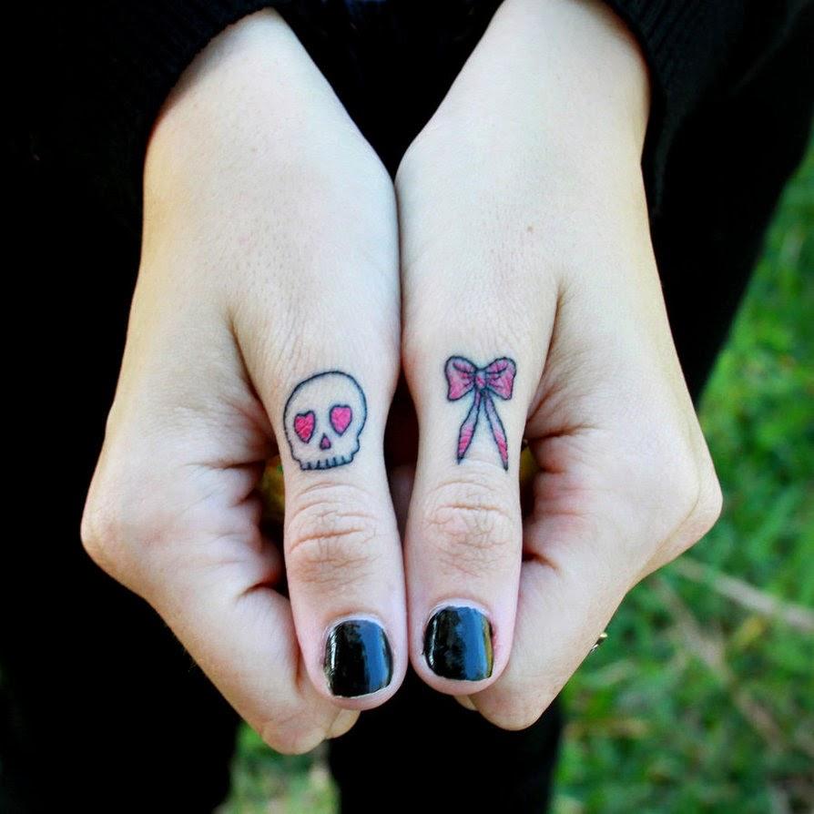 cute bow finger tattoo designs and ideas calgary edmonton toronto red deer lethbridge. Black Bedroom Furniture Sets. Home Design Ideas