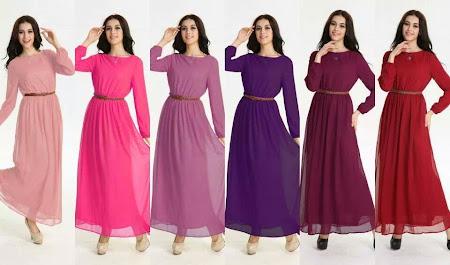 Yang Ditunggu Dah Tiba. Re stock Jenny Maxi FREE BELT! Dress Chiffon Full Lining Yang Sangat Menawa