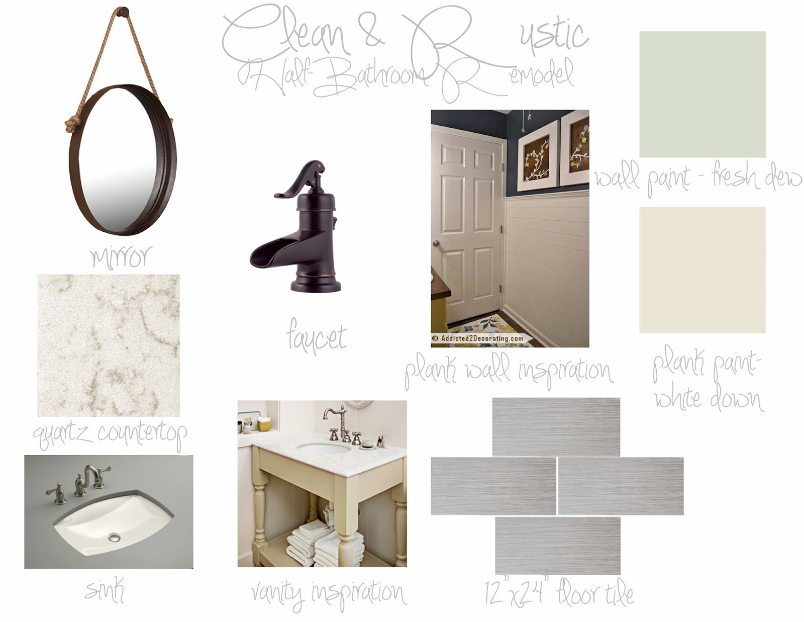 Bathroom Design Board i'm always nesting: half-bathroom design ideas