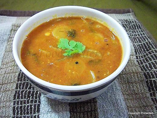 mullangi sambar, radish sambar