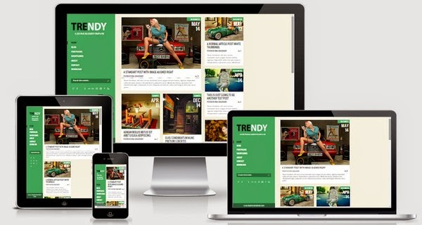 Trendy Responsive Blogger Template Free Download