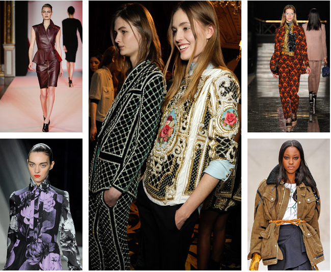FALL 2012 TRENDS LEATHER, PRINTS, FLORALS, MILITARY