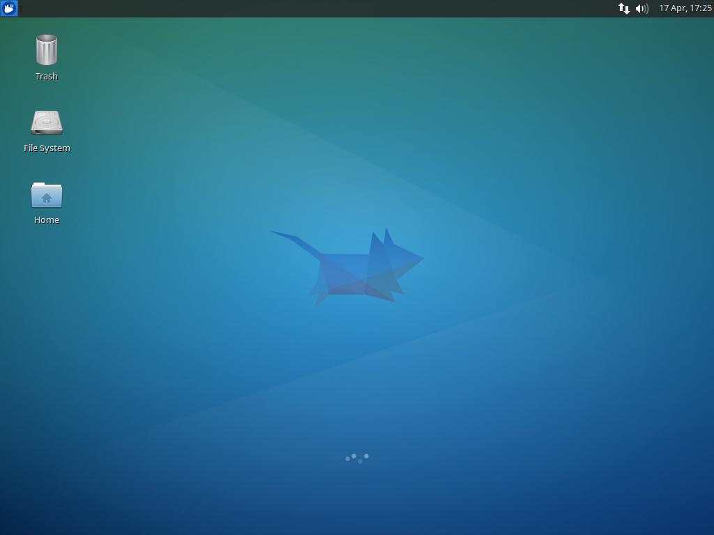 Tampilan desktop Xubuntu