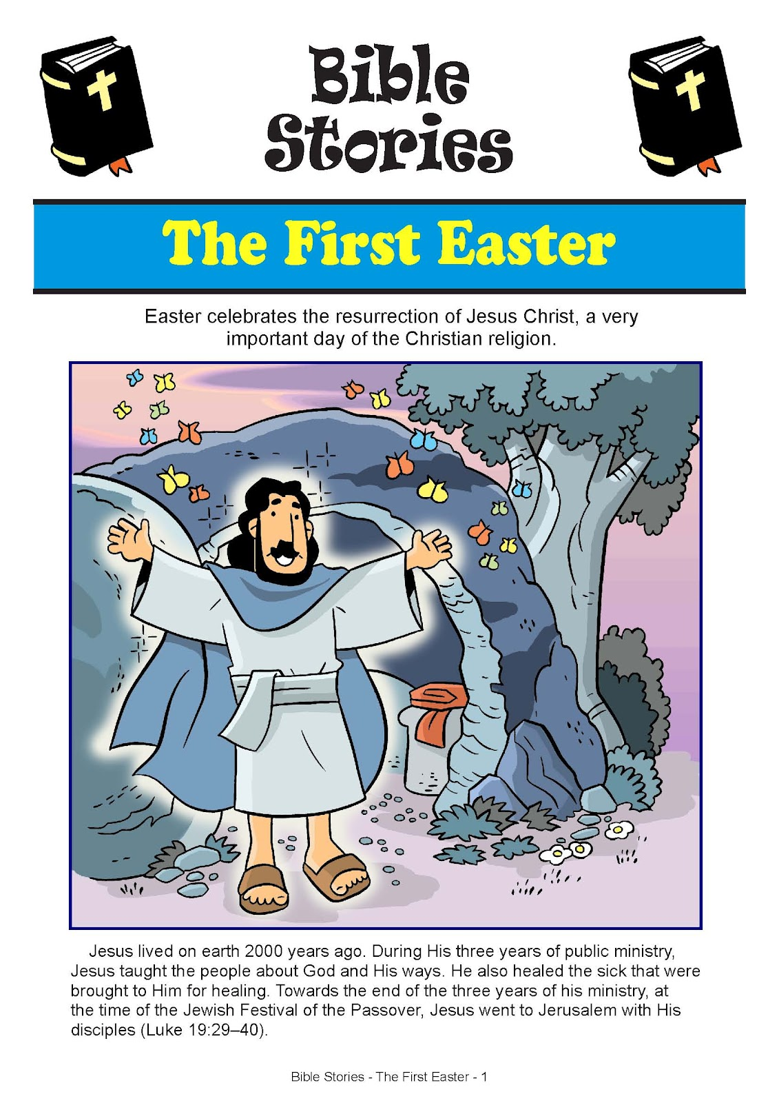 The Easter Story And Coloring Pages