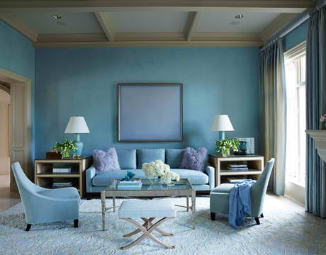 calm blue living room