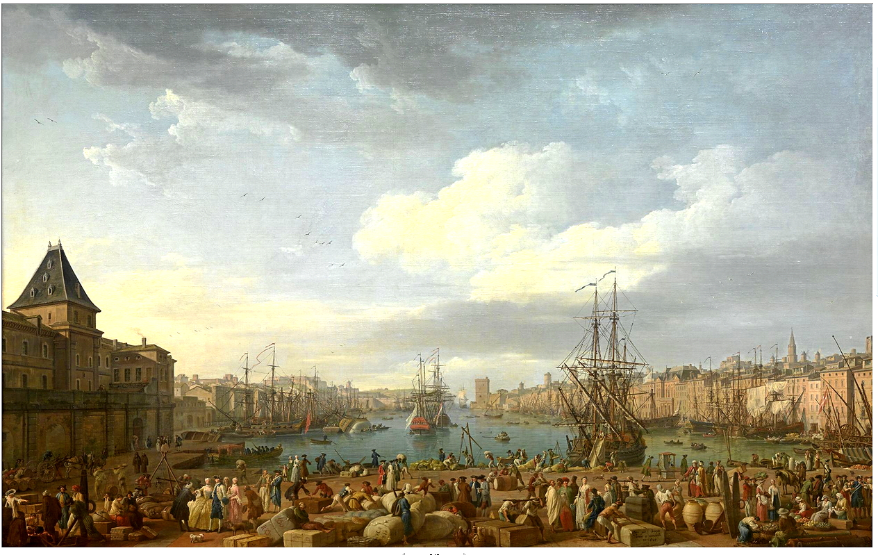 histgeolb quot l int 233 rieur du port de marseille quot de joseph vernet 1754