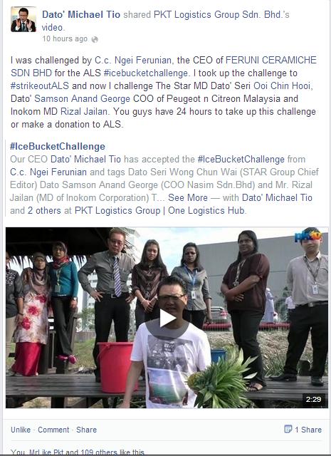 Ice Bucket Challenge - Dato' Michael Teo