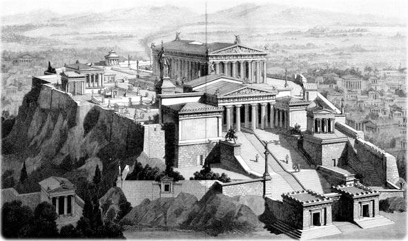 Partenon grego original, Parthenon, palácio dos 3 leões