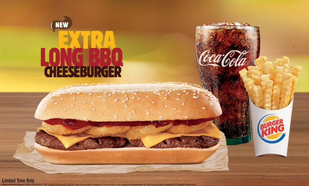 Burger King Essentially Doubles Up On The Rodeo Cheeseburger For New Limited Time Extra Long BBQ Its Basically Two Cheeseburgers