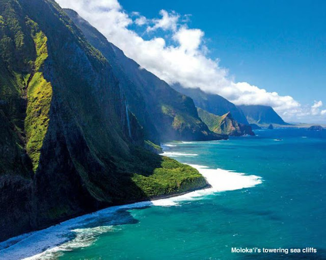 Molokai's towering sea cliffs