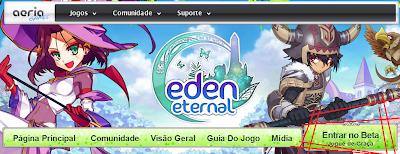 Cadastro no Beta ~ Eden Eternal BR