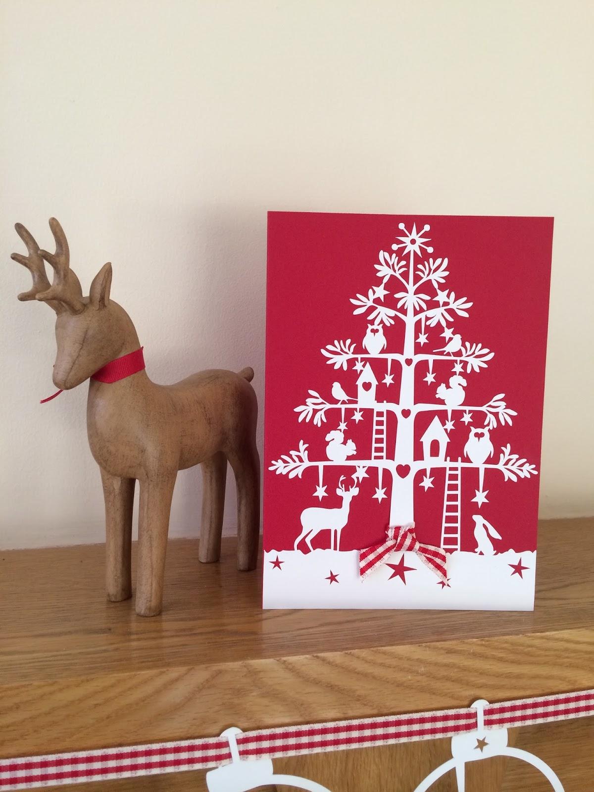 Papercut christmas card