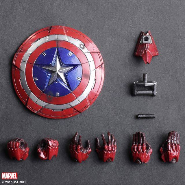 Play Arts Kai Captain America Marvel Universe Variant