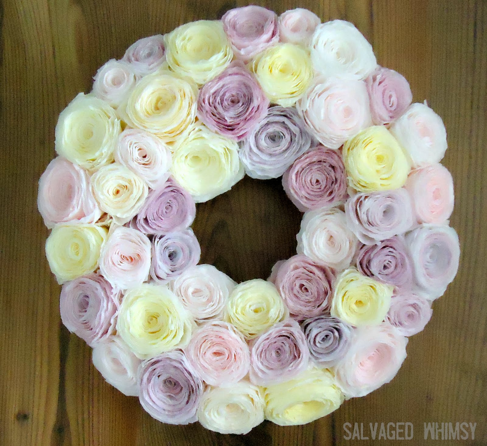 Pastel Spring Wreath. Click for 40 more #DIY #Wreath Ideas