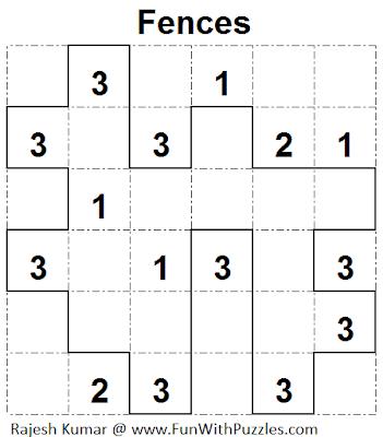 Fences (Mini Puzzles Series #19) Solution