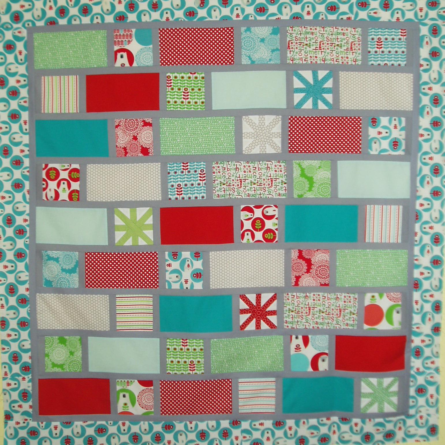 Patchwork de funkypatch colcha brrr con copos de nieve y - Colchas de patchwork modernas ...