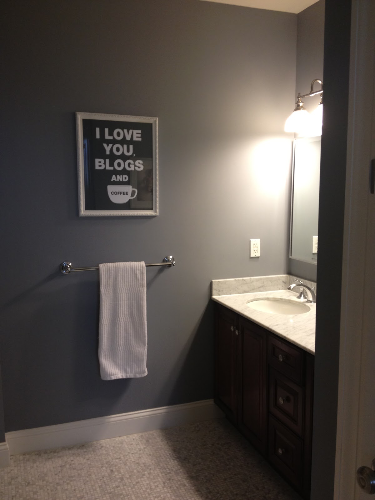 DarkGray Bathroom Paint Color 1200 x 1600