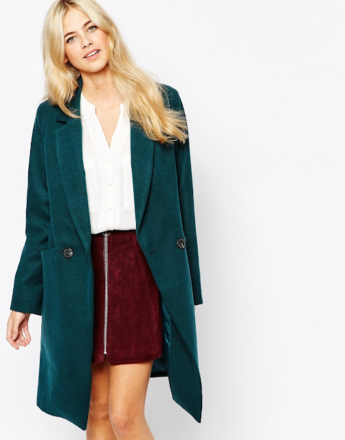 teal wool coat,